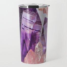 PURPLE AMETHYST & PINK CRYSTALS DESIGN Travel Mug