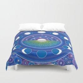 Moon Phase Mandala Duvet Cover