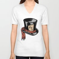 mad hatter V-neck T-shirts featuring Mad Hatter by Countmoopula