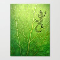 lizard Canvas Prints featuring lizard by Antracit