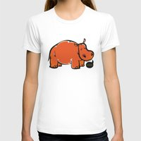 hippo T-shirts featuring Hippo by ILINDESIGNS