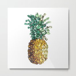 Pineapple by gems Metal Print