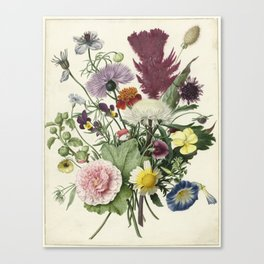 Bouquet of flowers, anonymous Canvas Print