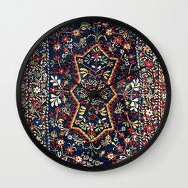 North Indian Floral Rug Print Wall Clock