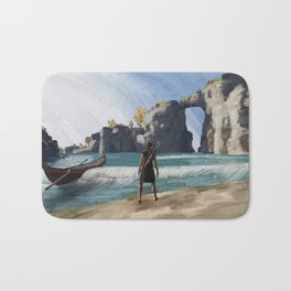 Greek beach Bath Mat
