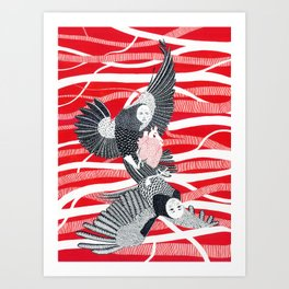 Alchonst and Sirin Art Print