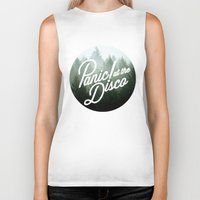 panic at the disco Biker Tanks featuring Panic! at the disco round trees  by Van de nacht