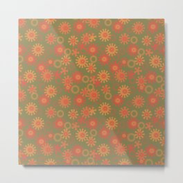 abstract pattern with suns Metal Print