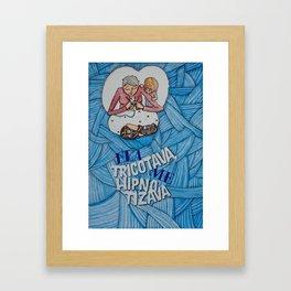 & | Ela tricotava Framed Art Print