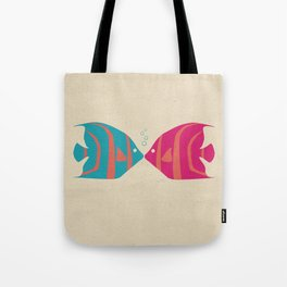 Fish Kiss Tote Bag