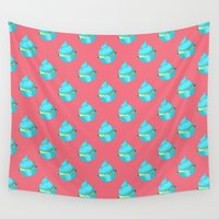 cupcake Wall Tapestries featuring Cupcake by tiffato3