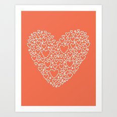 Heart Coral Art Print