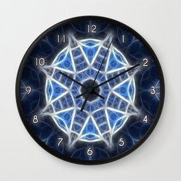 Blue Kaleidoscope 4 Wall Clock