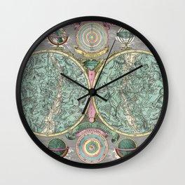 Vintage Astronomy Chart - Star Chart - Circa 1772 Wall Clock