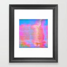 00-36-36 (Face Glitch) Framed Art Print