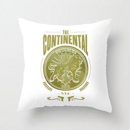 John Wick Continental Hotel Throw Pillow