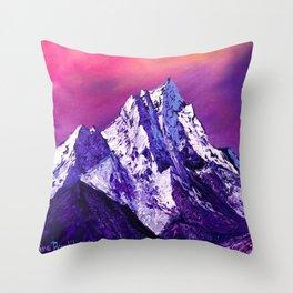 Nepal. Ama Dablam mountain Throw Pillow