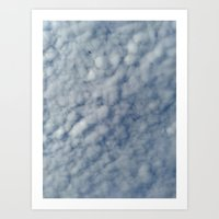 Cotton Cloud with A Lonely Bird Art Print