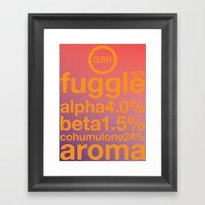 fuggle single hop Framed Art Print
