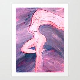 Goddess Flowing Art Print