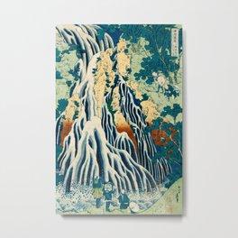 Katsushika Hokusai - Shimotsuke Kurokami-Yama Kurifuri no Taki Metal Print