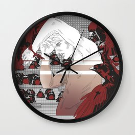 Crows and Onigiri Wall Clock