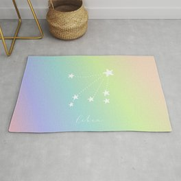 Pastel Libra Constellation Rug