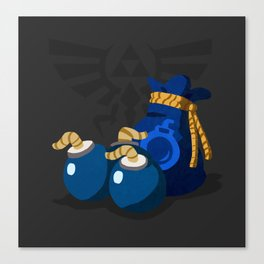 The Legend of Zelda Bomb Bag Canvas Print