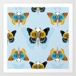Bird skull pattern Art Print