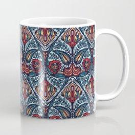 Boho flower damask all over print. Coffee Mug