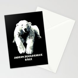 Vintage vector Zoo ad Basel polar bear Stationery Cards