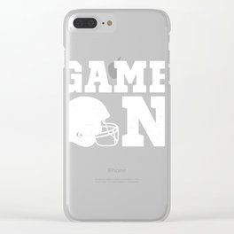 Game On High School Football  Clear iPhone Case