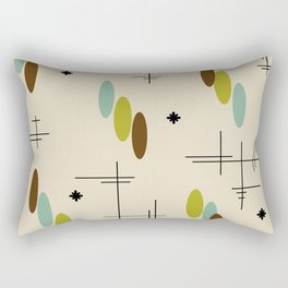 Ovals and Starbursts Colorful 3 Rectangular Pillow