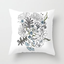 Rainy summer Throw Pillow