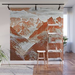 red mountains Wall Mural