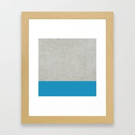 Concrete Blue Framed Art Print