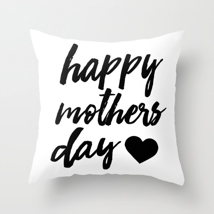 image regarding Happy Mothers Day Printable named Satisfied Moms working day - Black - moms working day print Toss Pillow by way of allyjcat
