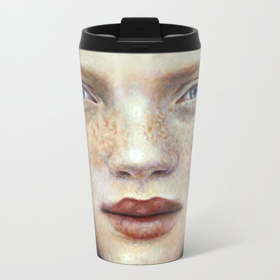 Face1 Metal Travel Mug
