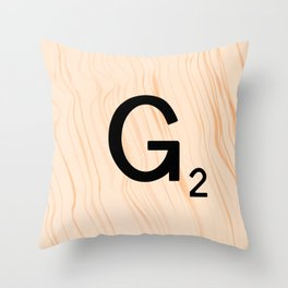 Scrabble Letter G - Scrabble Art and Apparel Throw Pillow