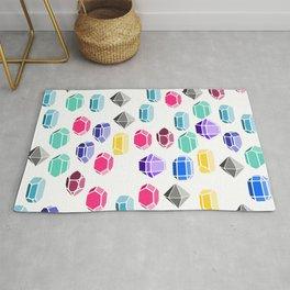Colorful Gemstones Rug