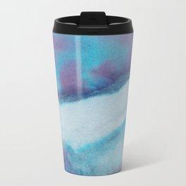 WaterColor Blue and Purple Print Metal Travel Mug