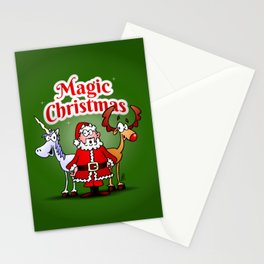 Magic Christmas with a unicorn Stationery Cards