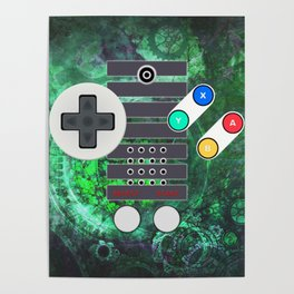 Classic Steampunk Game Controller Poster