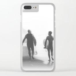 Surfers bond Clear iPhone Case