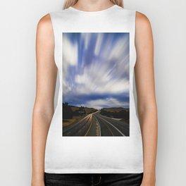 Long Exposure Sky (Color) Biker Tank