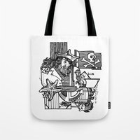 pirate Tote Bags featuring Pirate by María Nikólskaya