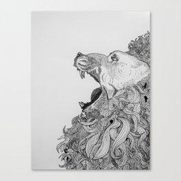 Lion's Roar Canvas Print