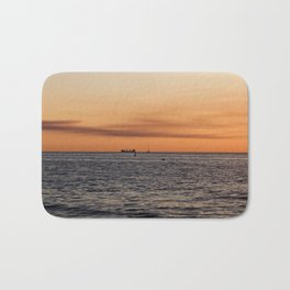 Orange Summersunset Feeling - Warnemuende - Baltic Sea Bath Mat