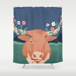 Longhorn Florals Shower Curtain