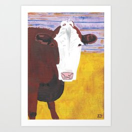 A Cow Named Knight Art Print